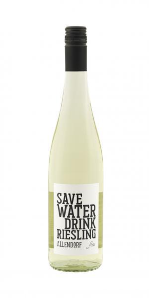 "Allendorf ""Save Water Drink Riesling free"" Alkoholfrei"