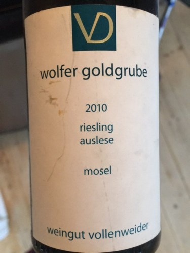 2009 Riesling Wolfer Goldgrube AUSLESE, Vollenweider