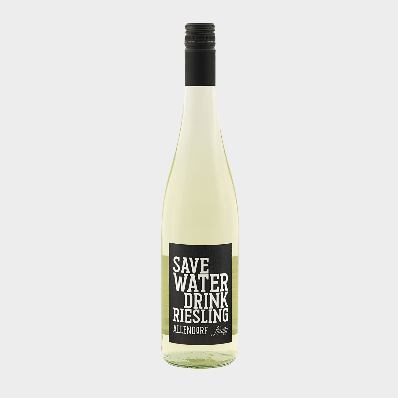 """Allendorf 2018 """"Save Water Drink Riesling fruity"""" QbA"""