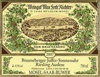 2010 Brauneberger Juffer-Sonnenuhr Auslese ** Fass 36. Max Ferd. Richter