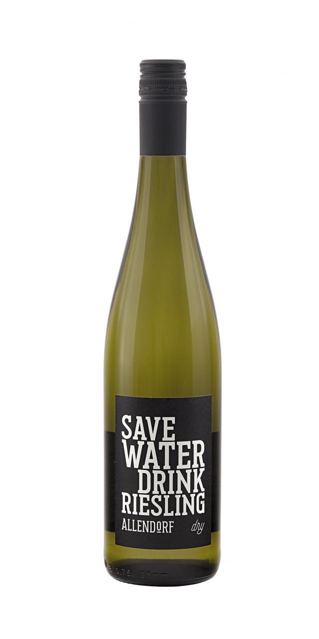 """Allendorf 2018 """"Save Water Drink Riesling dry"""" QbA trocken"""